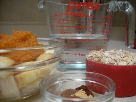 Pumpkin Oatmeal Ingredients