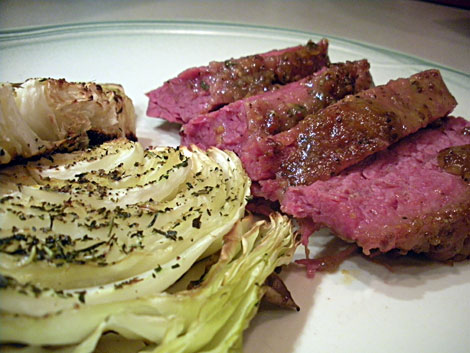 Glazed corned beef and Roasted cabbage - serifandspice.wordpress.com