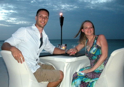 Taken in Aruba on our honeymoon.